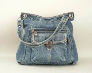 Picture of denim purse.