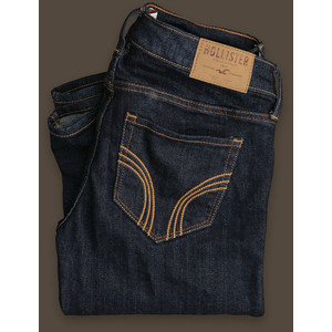 Picture of blue jeans from Hollister